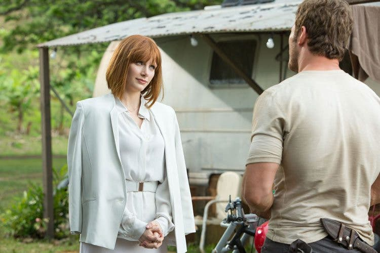 Bryce Dallas y Howard Chris Pratt en 'Jurassic World'