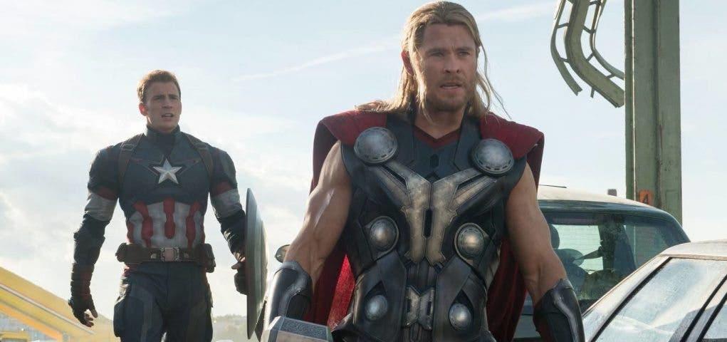 Capitán América y Thor en Vengadores: La era de Ultron