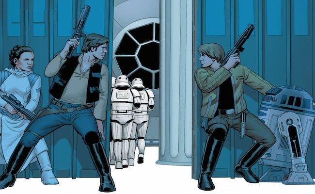 Imagen del cómic 'Star Wars'