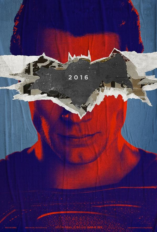 Poster oficial de Batman v superman