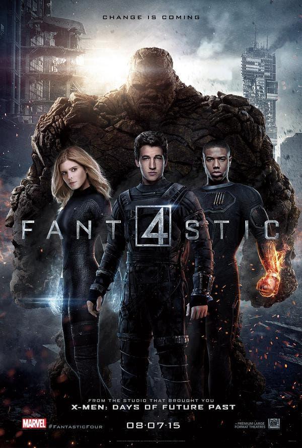 Poster reboot cuatro fantásticos