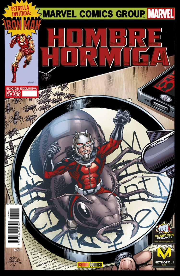 Metropoli Comic Con Portada de Ant-man Hombre Hormiga