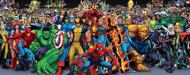 Todos los héroes de Marvel