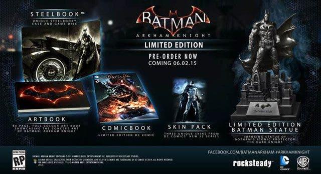 edición limitada de Batman Arkham Knight