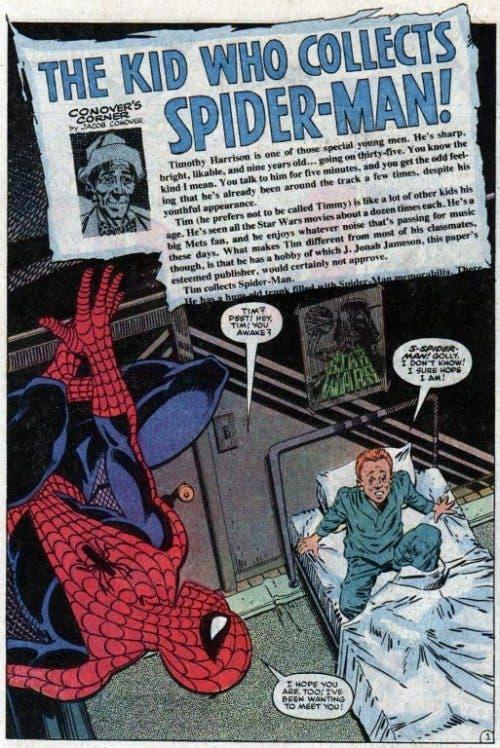 Portada de '¡El niño que coleccionaba Spiderman!'