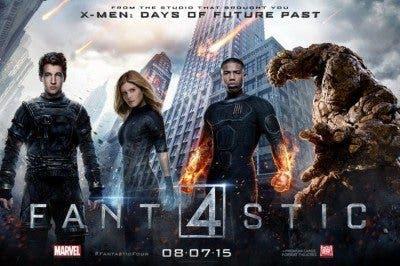 Cartel del reboot de 'Los cuatro fantásticos'.
