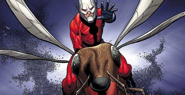 Ilustración de cómic de Ant-Man, el Hombre Hormiga.