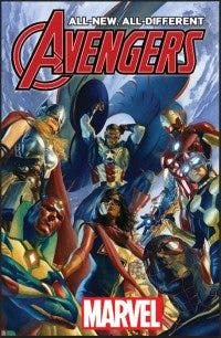 "Portada del número especial de 'Avengers' para abrir el evento del ""All-New All-Different Marvel""."