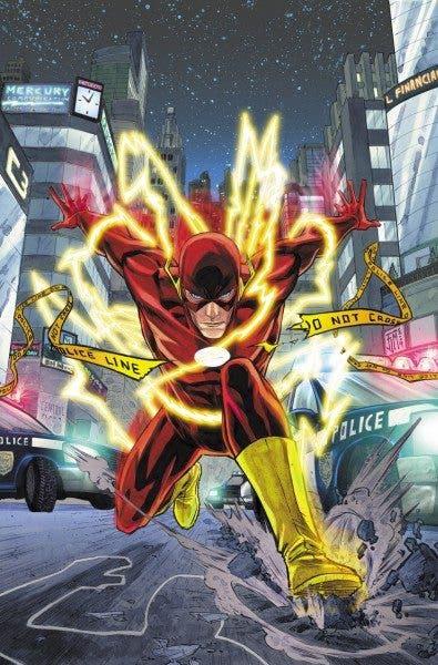 Ilustración de Barry Allen en los cómics de DC.