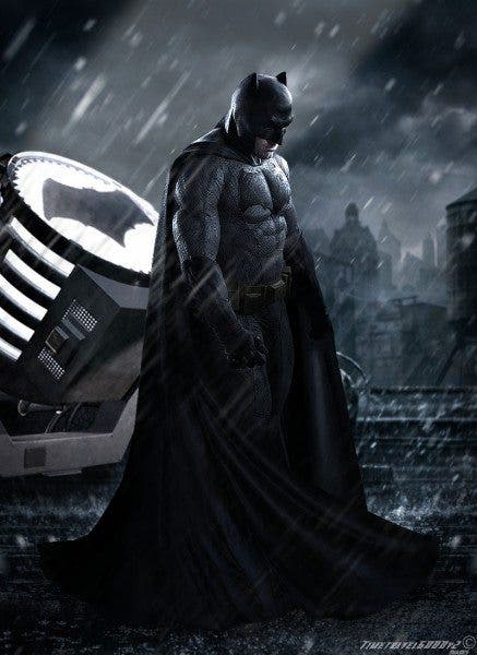 Imagen promocional de Batman (Ben Affleck) en 'Batman v Superman: Dawn of Justice' (2016).