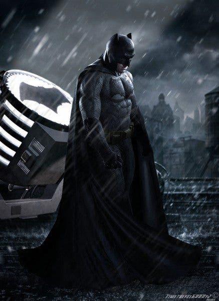 Imagen promocional de Batman (Ben Affleck) en 'Batman v Superman: Dawn of Justice' (2016).