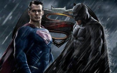 Cartel promocional de 'Batman v Superman: Dawn of Justice'.
