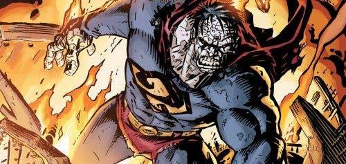 Ilustración de Bizarro, villano de Superman en las viñetas de DC Comics.