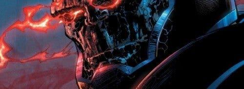 Ilustración de Darkseid, villano de Superman en las viñetas de DC Comics.