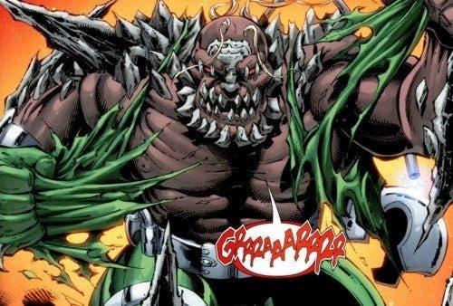 Ilustración de Doomsday, villano de Superman en las viñetas de DC Comics.