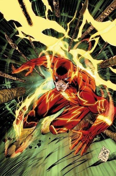 Ilustración de Barry Allen, el primer Flash de la historia de los cómics.