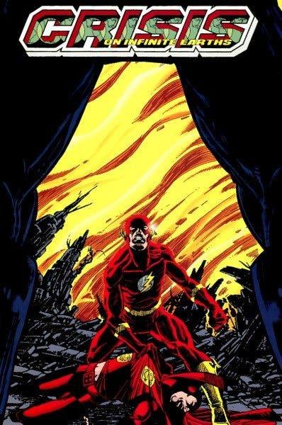 """Portada del cómic """"Crisis en Tierras Infinitas"""", uno de los más vendidos de la historia."""