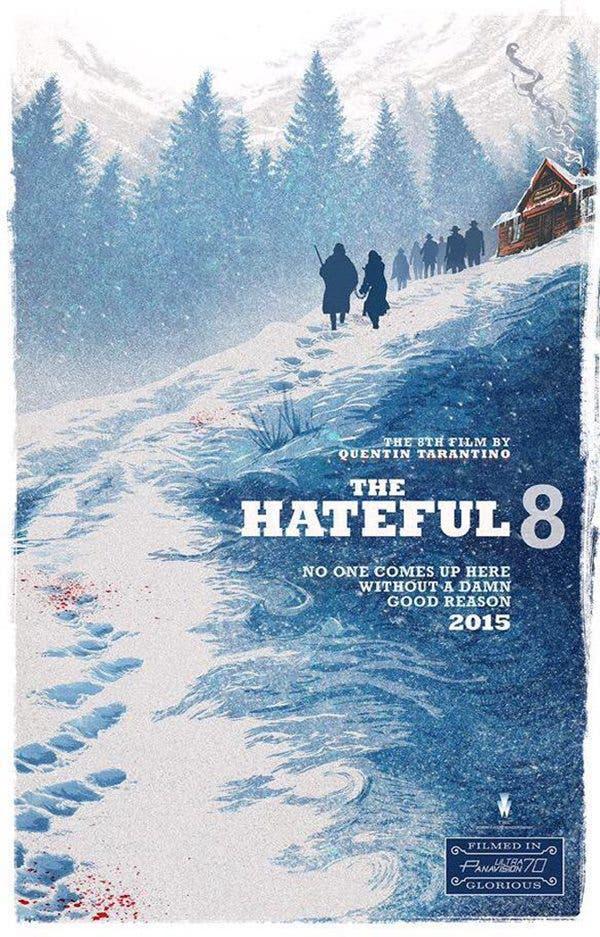 Nuevo póster promocional de 'The Hateful Eight', la próxima película de Tarantino.