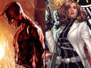 Daredevil y Jessica Jones, dos de los personajes más oscuros de la editorial Marvel Comics.