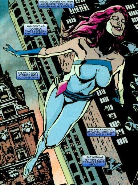 Ilustración de Jessica Jones en las viñetas de Marvel Comics.