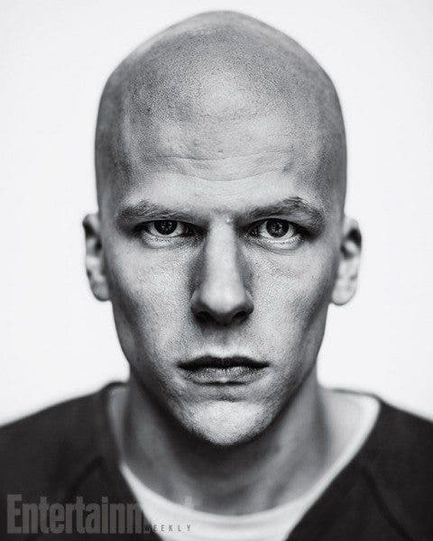 Imagen promocional de Lex Luthor (Jesse Eisenberg) en 'Batman v Superman: Dawn of Justice' (2016).