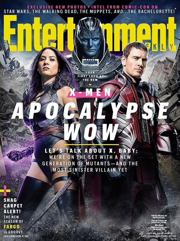 X-men: Apocalipsis en la portada Entertainment Weekly