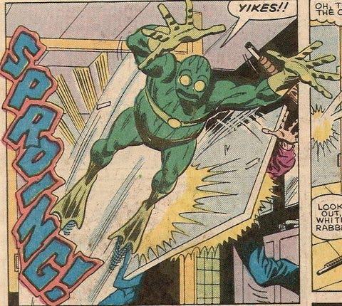 Rana Saltarina, uno de los villanos más patéticos de los cómics