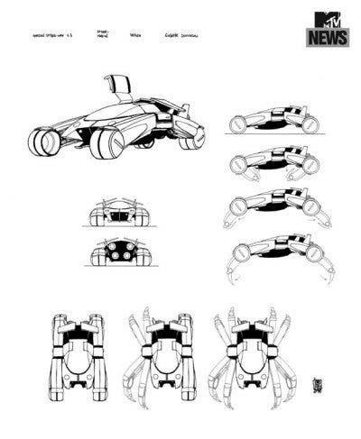 Diseño del nuevo Spidermovil para la saga 'Amazing Spider-Man'