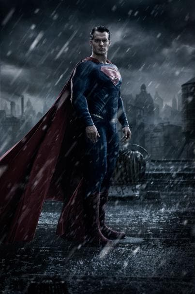 Imagen promocional de Superman (Henry Cavill) para 'Batman v Superman: Dawn of Justice' (2016).