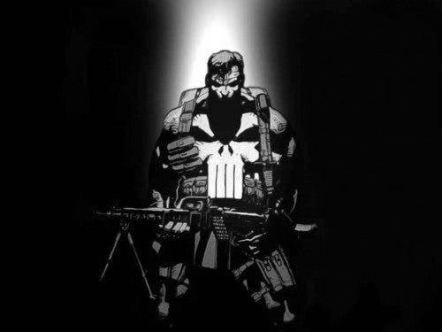 Ilustración de Frank Castle/The Punisher en los cómics (Marvel).