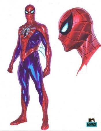 Diseño del nuevo traje de Spiderman para la saga 'Amazing Spider-Man'