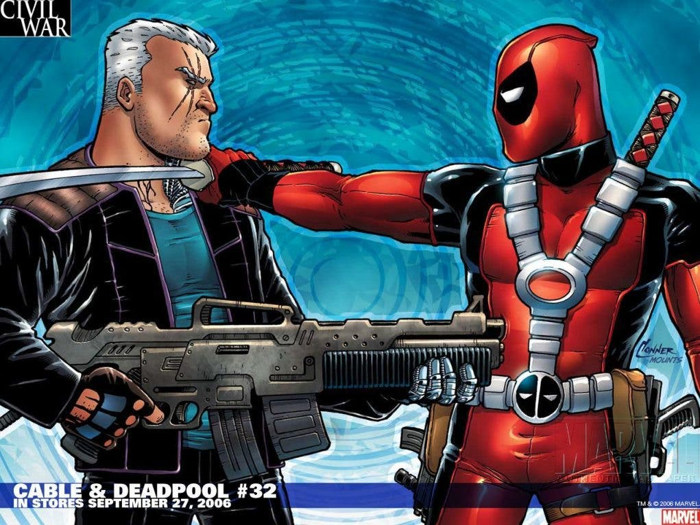 cable comic character deadpool_wade_wilson_marvel_comics_wall