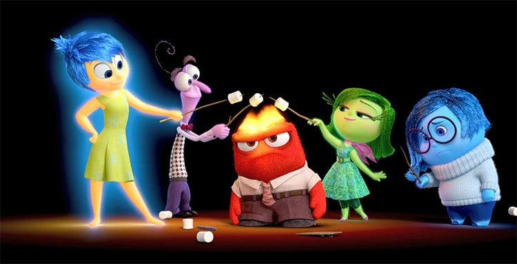 Pixar Disney Del revés Inside Out