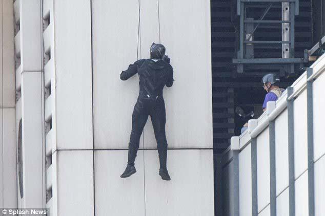 Black Panther en el Rodaje de Capitán América: Civil War