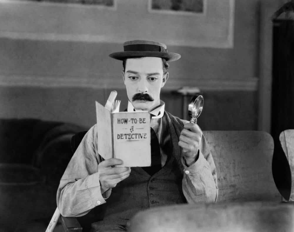 Buster Keaton como Sherlock Holmes