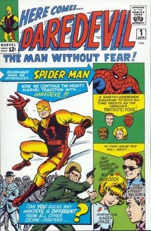 Portada Nº 1 de Daredevil (Stan Lee y Bill Everett con la colaboración de Jack Kirby)