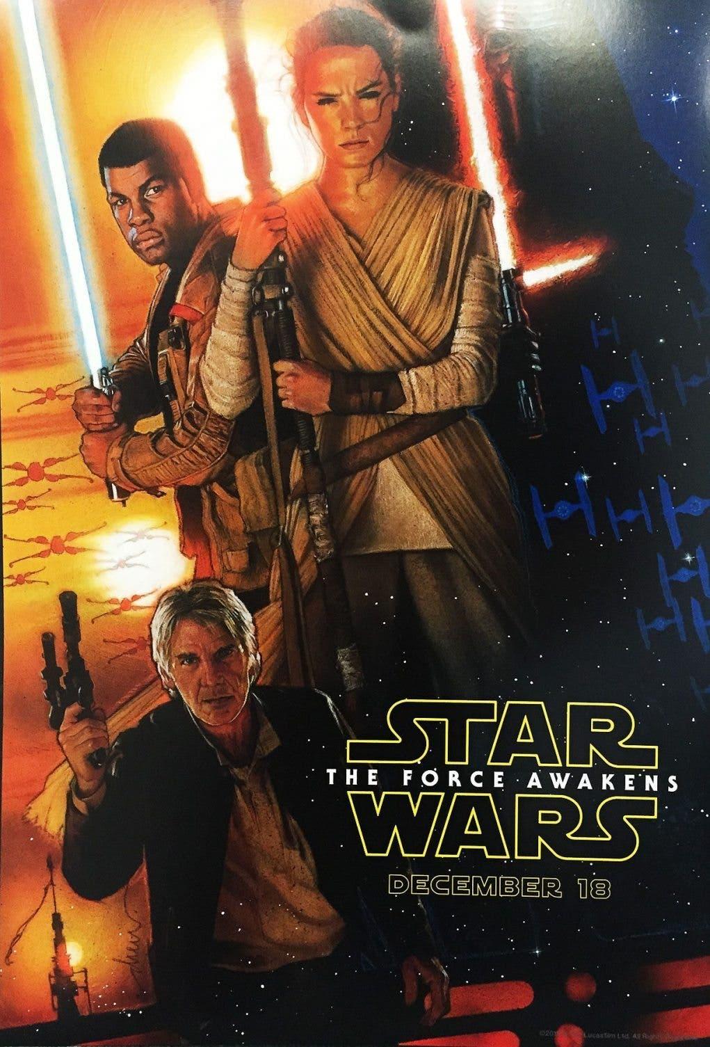 Póster de Drew Struzan para Star Wars El despertar de la fuerza