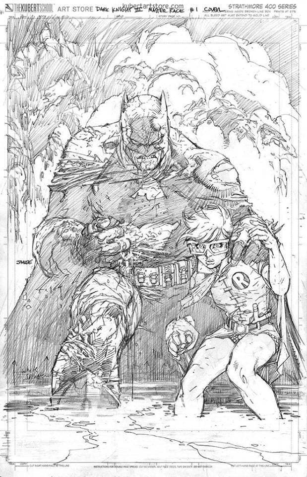 Portada de Dark Knight III: The Master Race de Jim Lee