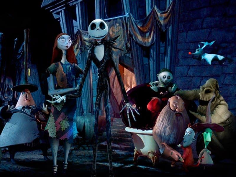 pesadilla antes de navidad. Película sobre la festividad de Halloween