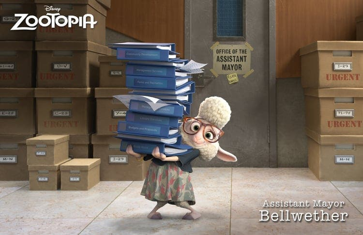 zootopia Assitant mayor Bellwether