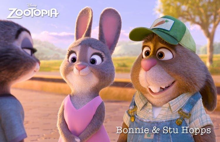 zootopia Bonnie y Stu Hopps