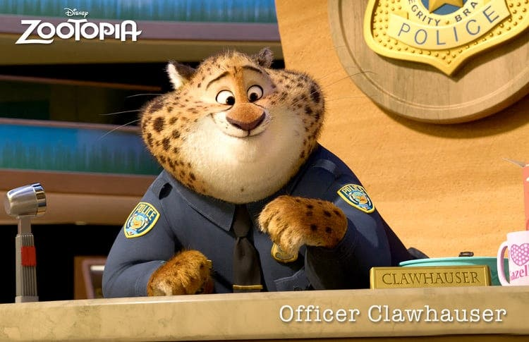 zootopia officer clawhauser