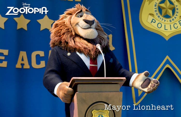 zootropolis mayor lionheart