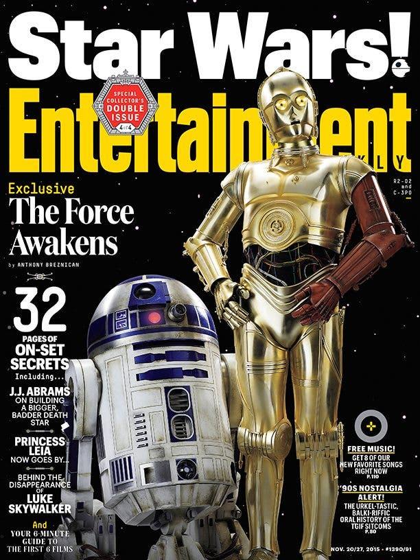 C3PO y R2D2 portada EW