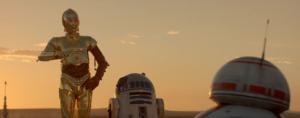 C3PO R2D2 y BB8