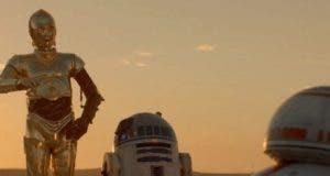 C3PO R2D2 y BB8 en STAR WARS: El despertar de la fuerza