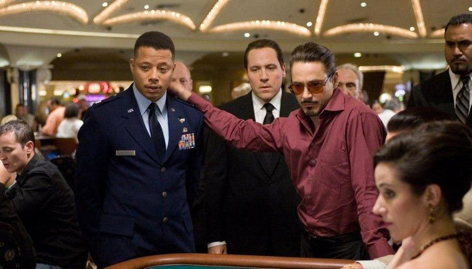 Jim Rhodes y Tony Stark en Iron Man