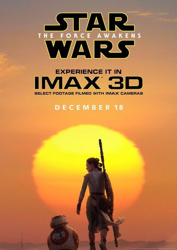 Poster IMAX de Star Wars el despertar de la fuerza