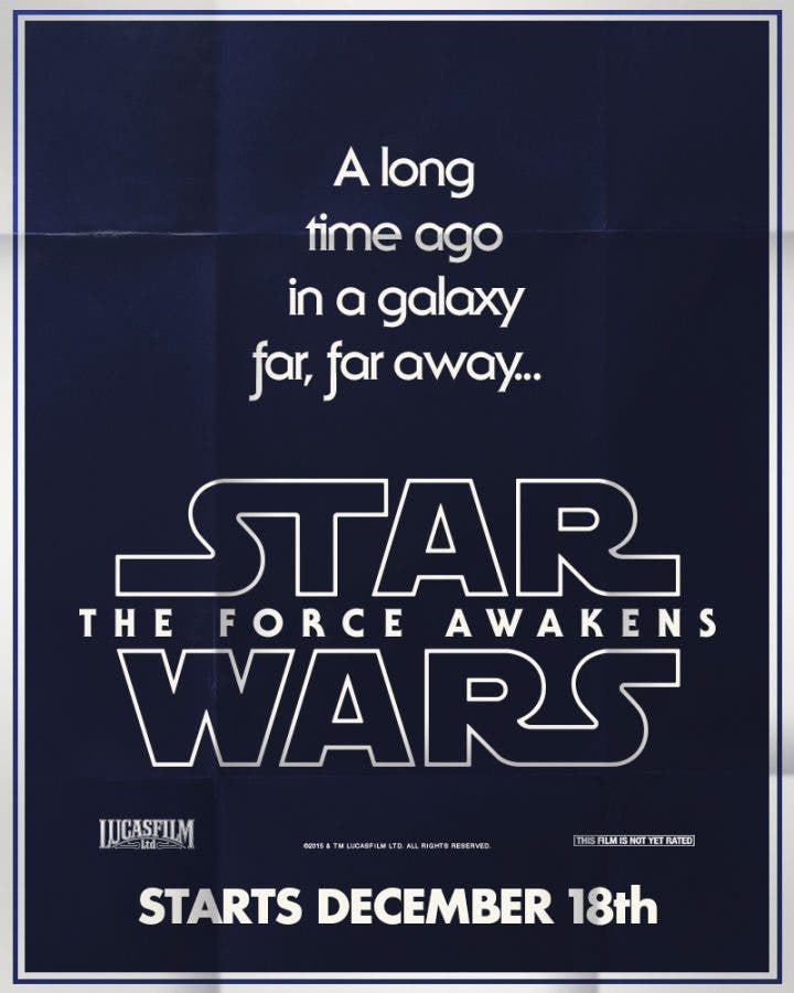Star wars el despertar de la fuerza poster retro