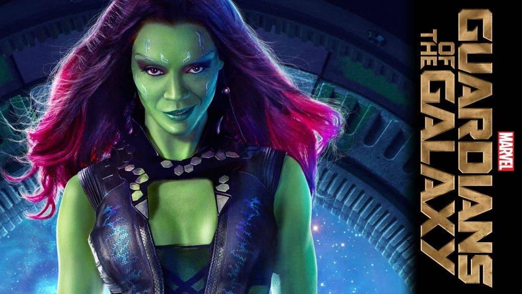 Zoe Saldana es Gamora en Guardianes de la Galaxia